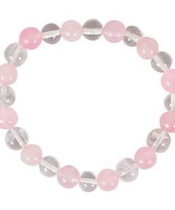 White Pink Sphatic Rose Mix Quartz Bracelets